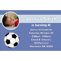 Sports Photo Invitations - Football, Baseball, Soccer, Basketball