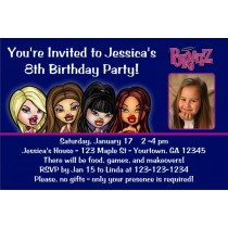 Bratz Photo Invitations
