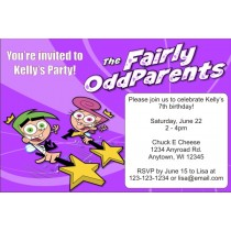 Fairly Odd Parents Invitations -Purple