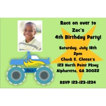 Monster Truck Photo Invitation 2 - ALL COLORS