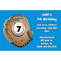 Baseball Glove Invitation