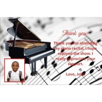 Piano Recital Thank You Card