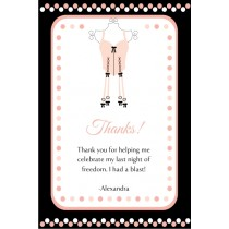 Lingerie Bridal Shower Bachelorette Party Thank You Card