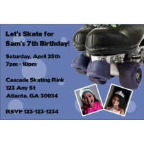 Roller Skating Photo Invitation - ALL COLORS