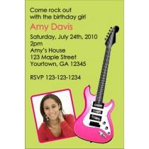 Electric Guitar Photo Invitation