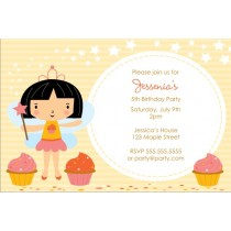 Cupcake Fairy Princess Invitation - Circle Fun