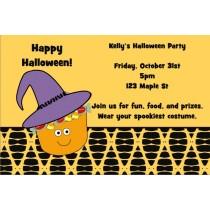 Candy Bucket Halloween Party Invitation