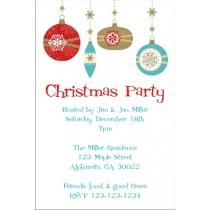 Retro Ornaments Christmas Holiday Card Party Invitation