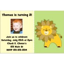 Lion Photo Invitation - ALL COLORS
