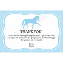 Horse custom thank you card