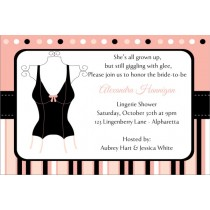 Lingerie Bridal Shower Bachelorette Party Invitation 3