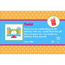 Bounce House / Castle Thank You Card 3