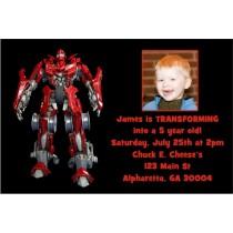 Transforming Robot Photo Invitation -Like Transformers