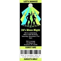 Disco Ticket Style Invitations (2.5x7)