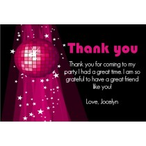 Disco Thank You Cards - Pink Disco Ball