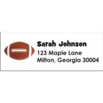 Football Return Address Labels
