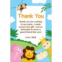 Party Animals Thank You Card