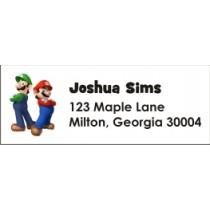 Super Mario Brothers Mario & Luigi Return Address Labels