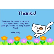 Happy Kitty Cat Thank You Cards