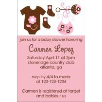 Mod Baby Elements Invitation (Pink)