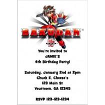 Bakugan Invitation
