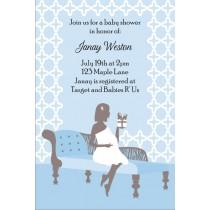 Sitting Pretty Baby Shower Invitation - Blue