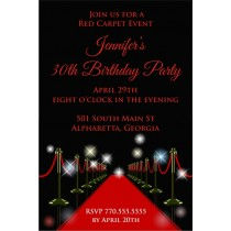 Red carpet party invitation
