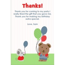 Cute Bear and Mouse Thank You Cards