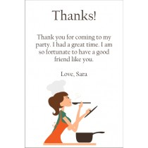 Pretty Chef Cooking Thank You Card