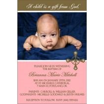 Communion / Baptism Photo Invitation 5 - Pink