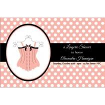 Lingerie Bridal Shower Bachelorette Party Invitation 4