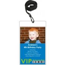 Photo VIP Pass Invitatiion with Lanyard (Choose Colors)