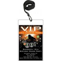Dance Party Nightclub VIP Birthday party invitation
