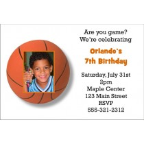 Basketball Invitation with Optional Photo