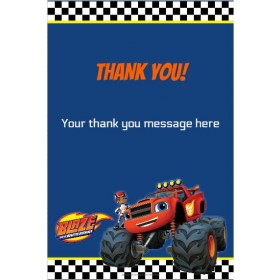 Blaze and the Monster Machines Thank You Card