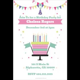 Celebration Cake  Party Invitation