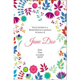 Spring Floral Party Invitation