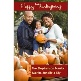 Happy Thanksgiving Fall Autumn Photo Card
