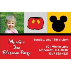 Mousy Fun Photo Invitation (Mickey Mouse)