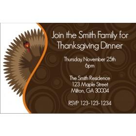 Gobble Gobble Turkey Thanksgiving Dinner Fall Autumn Invitation