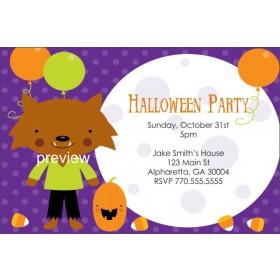 Kid Werewolf Halloween Party Invitation