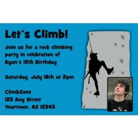 Rock Climbing Photo Invitation - ALL COLORS
