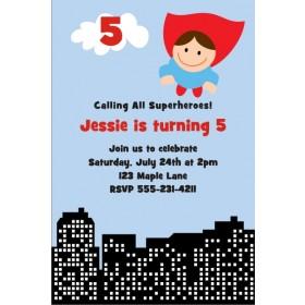 Superhero Birthday Invitation 3