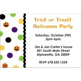 Halloween Pumpkin Dots Party Invitation
