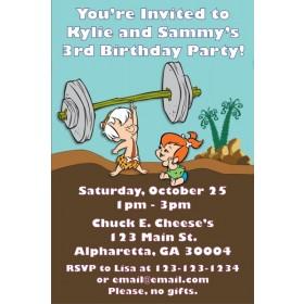 Flintstones - Pebbles and Bamm - Bamm Invitations