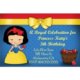 Snow White Once Upon A Time Invitation