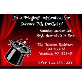 Magician's Hat - Magic Show invitation