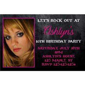Photo Invitation 20 - Grunge Pink