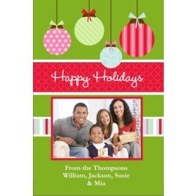 Joyful Ornaments Christmas Holiday Photo Card