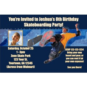 Tony Hawk Skateboarding Invitations